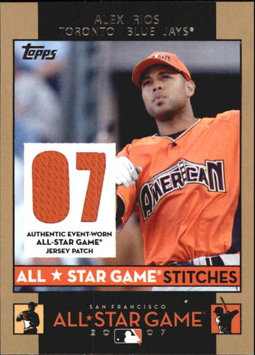 Photo of 2007 Topps Update All-Star Stitches #AIR Alex Rios