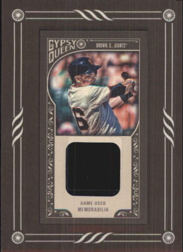 Photo of 2015 Topps Gypsy Queen Framed Mini Relics #GMRGB Gary Brown