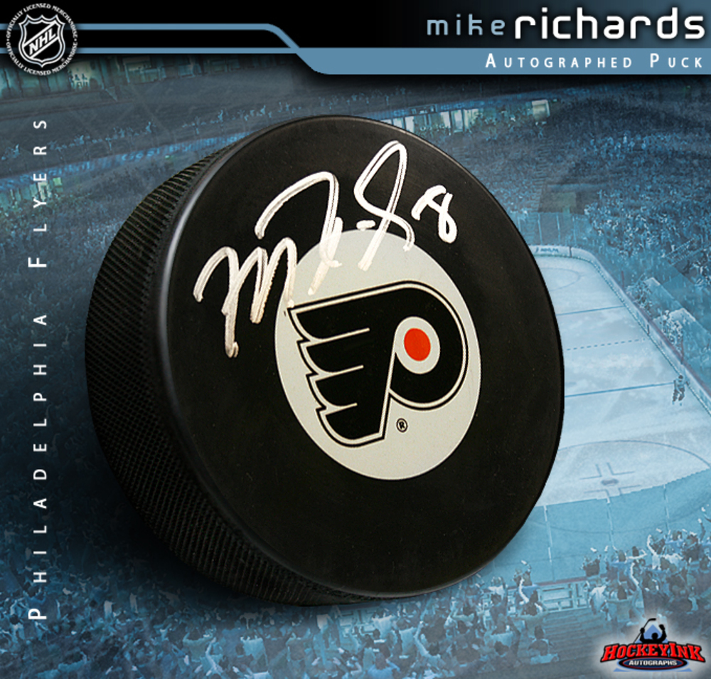 MIKE RICHARDS Signed Philadelphia Flyers Logo Puck