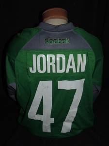 Carolina Hurricanes Authentic Go Green Michal Jordan #47 Jersey
