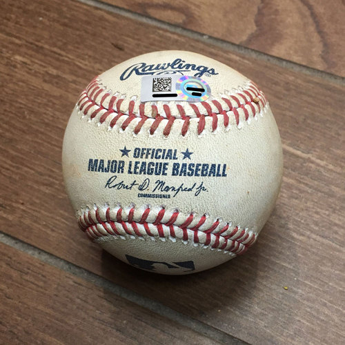 Photo of Game-Used Baseball from Jose Altuve's 1,000th Hit Game
