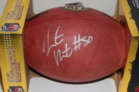 NFL - CHIEFS JUSTIN HOUSTON SIGNED AUTHENTIC FOOTBALL