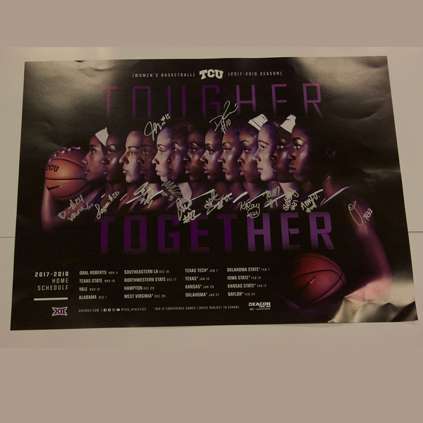 2017 Women's Basketball Team Autographed Poster