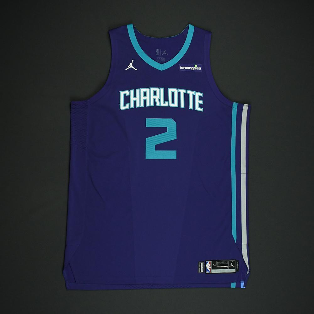 Marvin Williams - Charlotte Hornets - Game-Worn 'Statement' Jersey - 2017-18 Season - Double-Double