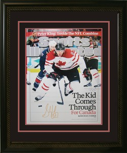 Sidney Crosby - Signed & Framed 16x20 Etched Mat - Team Canada 2010 Sports Illustrated Cover