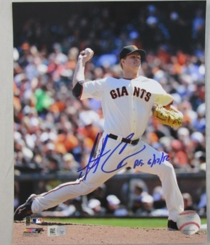 "Photo of Matt Cain Autographed ""PG 6/13/12"" Giants 16x20"