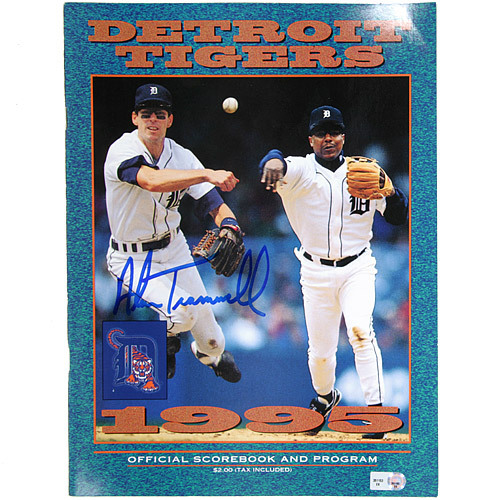 Detroit Tigers Alan Trammell Autographed 1995 Tigers Game Program