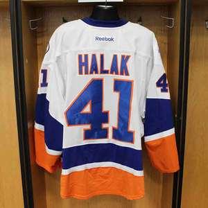 Jaroslav Halak - Game Worn Away Jersey - 2015-16 Season - New York Islanders