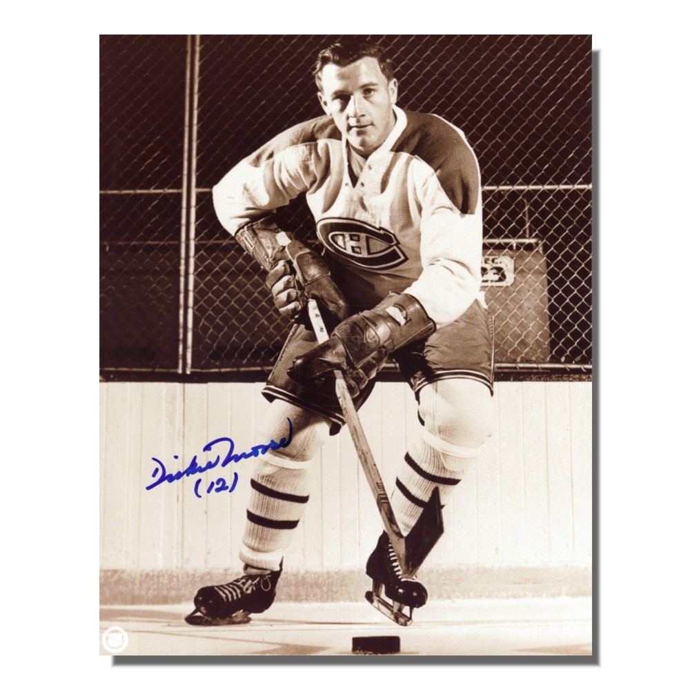 Dickie Moore Autographed Montreal Canadiens 8x10 Photo