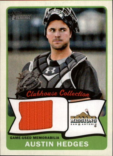 Photo of 2014 Topps Heritage Minors Clubhouse Collection Relics #CCRAH Austin Hedges