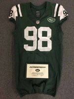 New York Jets - 2015 #98 Quinton Coples Game Worn Jersey