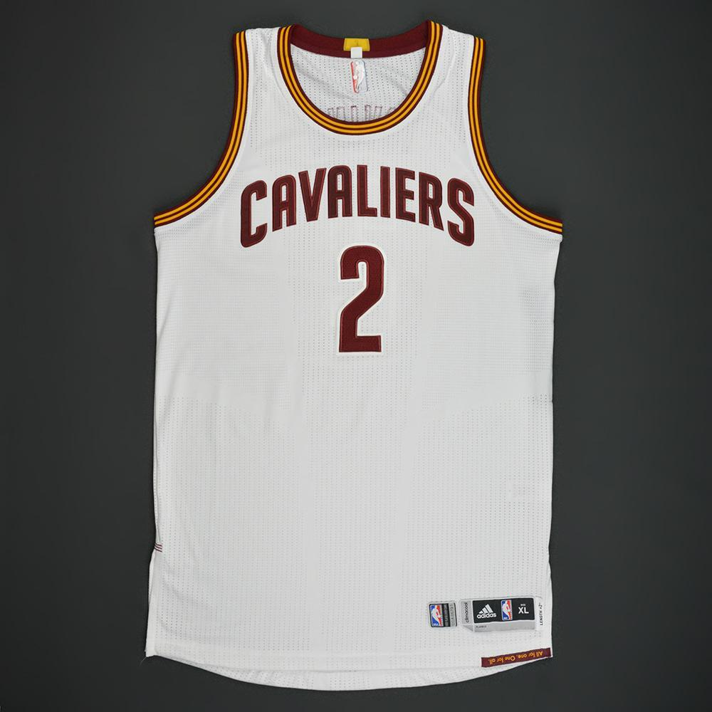 Kyrie Irving - Cleveland Cavaliers - White Playoffs Game-Worn Jersey - 2016-17 Season
