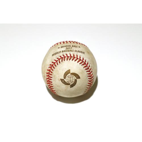 Photo of 2017 World Baseball Classic: Batter - Alfredo Despaigne, Pitcher - Yoshihisa Hirano, Top of 8th, Single