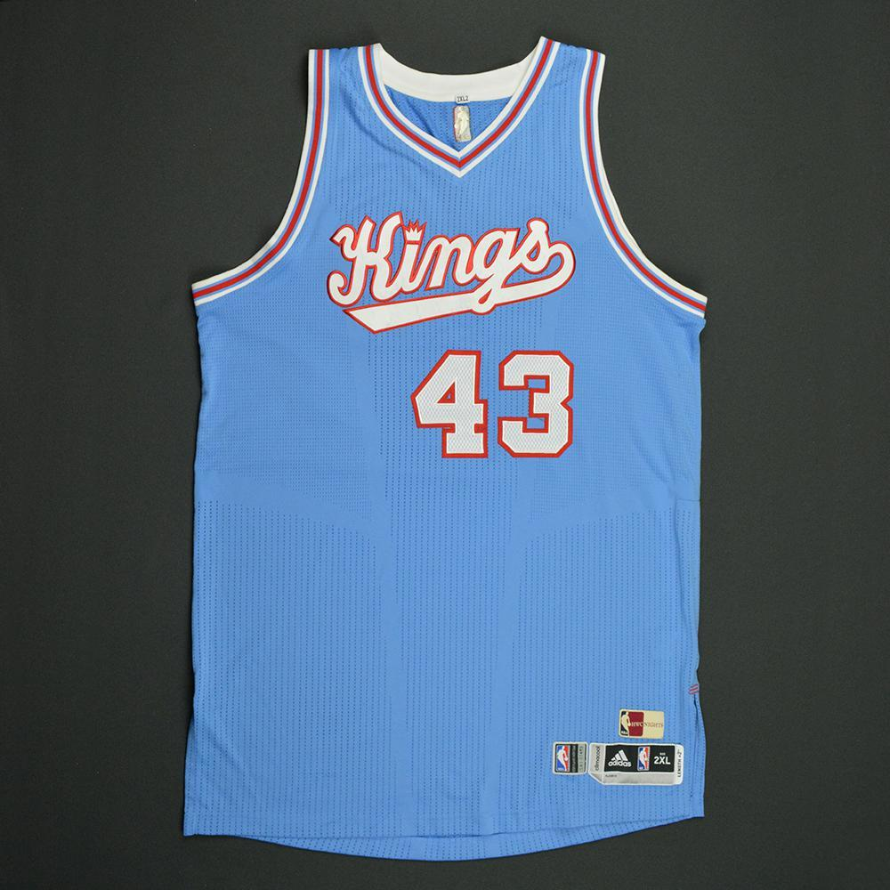 Anthony Tolliver - Sacramento Kings - Game-Worn Blue '1985-86 Road Hardwood Classics' Jersey - 2016-17 Season