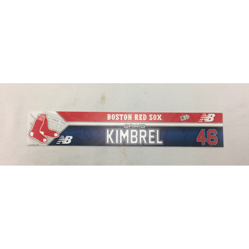 Craig Kimbrel Game-Used April 11, 2016 Locker Tag