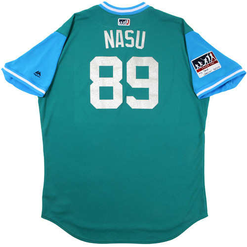 "Photo of Nasusel ""Nasu"" Cabrera Seattle Mariners Game-Used Players Weekend Jersey"