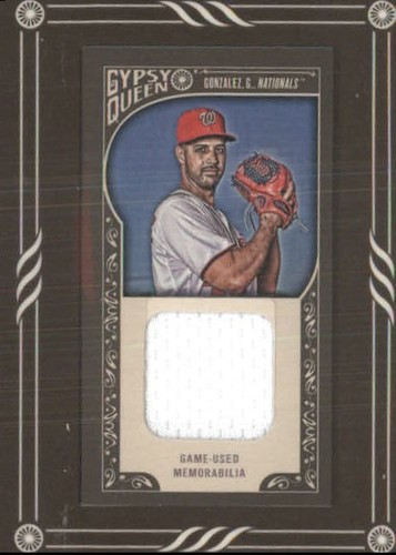 Photo of 2015 Topps Gypsy Queen Framed Mini Relics #GMRGG Gio Gonzalez