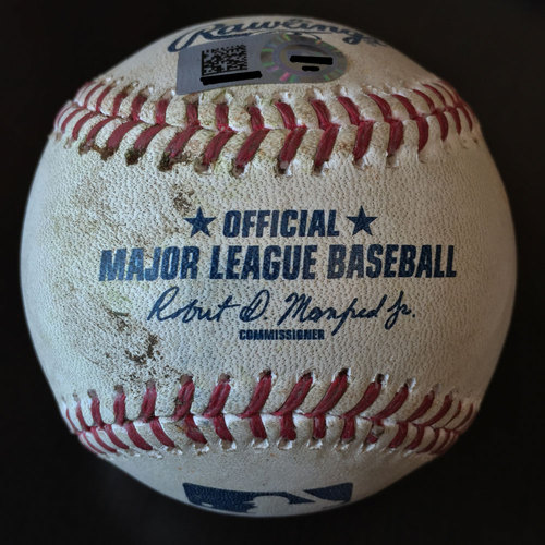 Photo of #23 A.J. Reed Game-Used Baseball Hit for a Double
