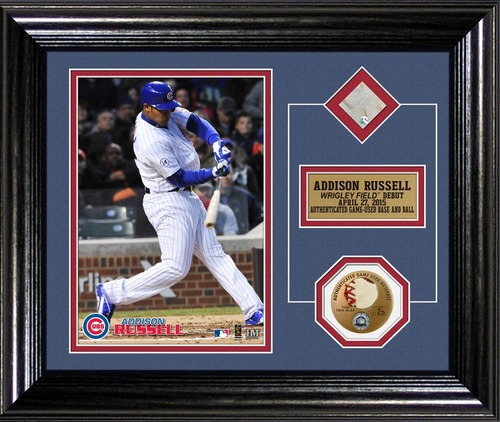 Photo of Addison Russell Wrigley Field Debut Plaque