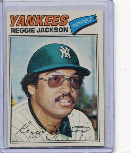 Photo of 1977 Topps #10 Reggie Jackson -- Hall of Famer