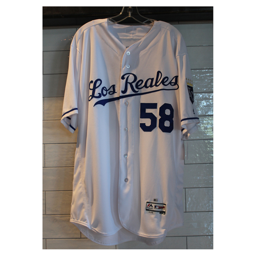 Photo of Game-Used Dave Eiland Los Reales jersey (6/24/17 TOR at KC) (Size 48)