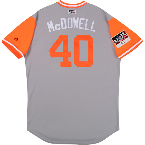 "Photo of Roger ""McDowell"" McDowell Baltimore Orioles Game-Used Players Weekend Jersey"