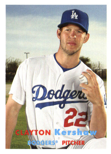 Photo of 2015 Topps Archives #1 Clayton Kershaw -- Dodgers post-season