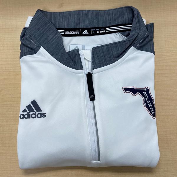 FAU Adidas White 1/4 Zip Pullover Jacket (Men's XL)