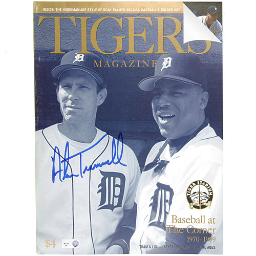 Photo of Detroit Tigers Alan Trammell Autographed 1999 Tigers Game Program