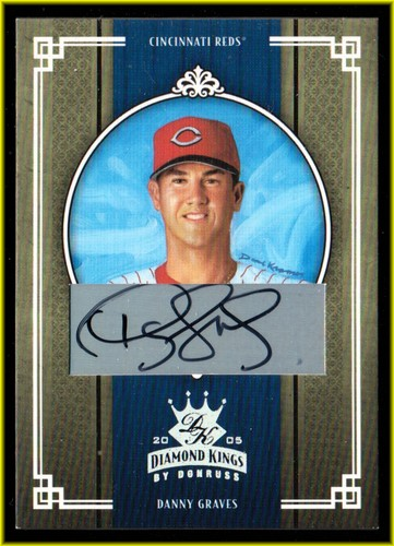 Photo of 2005 Diamond Kings Signature Silver #75 Danny Graves/100