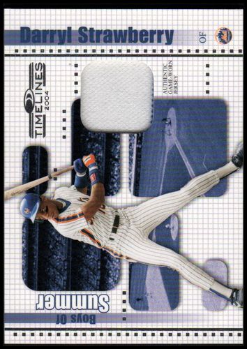 Photo of 2004 Donruss Timelines Boys of Summer Material #9 Darryl Strawberry Jsy