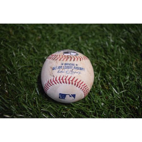 Photo of Game-Used Baseball: Wilson Ramos double off Sonny Gray - 9/12/17 at Citi Field v NYY