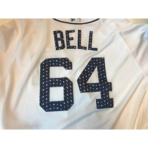 Photo of Game-Used Stars and Stripes Jersey: Chad Bell