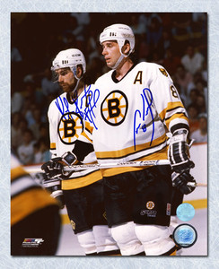 Ray Bourque & Cam Neely Boston Bruins Dual Signed Legends 8x10 Photo