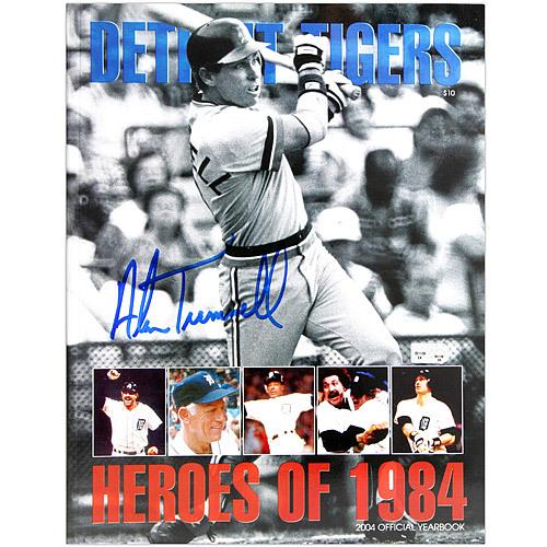 Photo of Detroit Tigers Alan Trammell Autographed 2004 Tigers Game Program