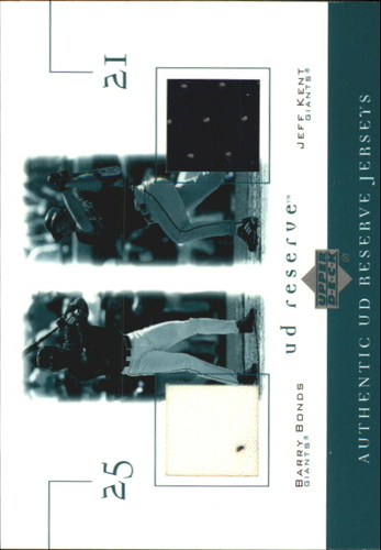 Photo of 2001 UD Reserve Game Jersey Duos #JBK Barry Bonds/Jeff Kent