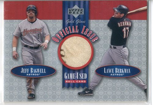 Photo of 2001 Upper Deck Gold Glove Official Issue Game Ball #OIBB Jeff Bagwell/Lance Berkman