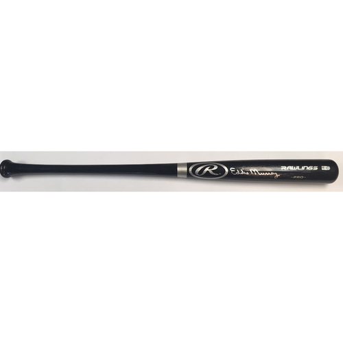 Photo of Eddie Murray Autographed Black Rawlings Pro Bat