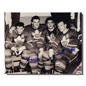 Ted Kennedy (deceased) and Harry Watson (deceased) Autographed Toronto Maple Leafs 8x10 Photo