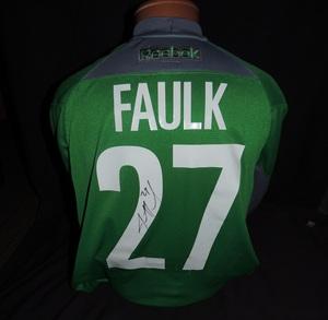 Carolina Hurricanes Authentic Go Green Justin Faulk #27 Jersey