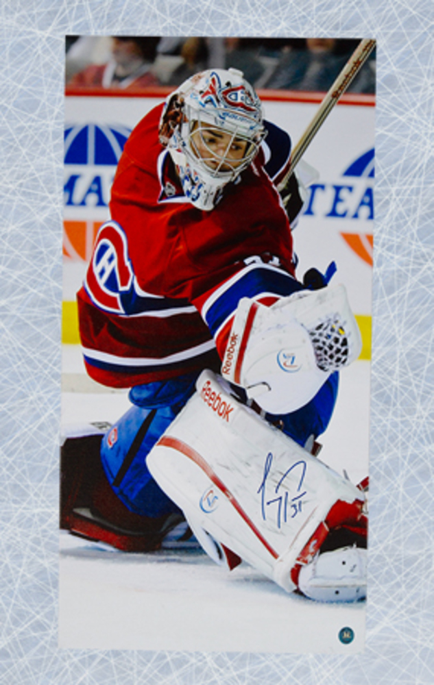 Carey Price Montreal Canadiens Autographed 14x28 Art Canvas