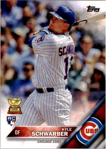Photo of 2016 Topps #66A Kyle Schwarber -- Chicago Cubs rookie card