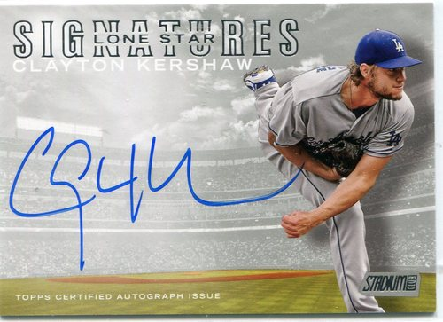 Photo of 2016 Stadium Club Lone Star Signatures  Clayton Kershaw