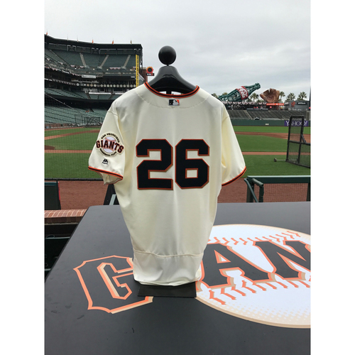 Photo of San Francisco Giants - Home Opening Day Jersey - Game Used - Mark Gardner #26