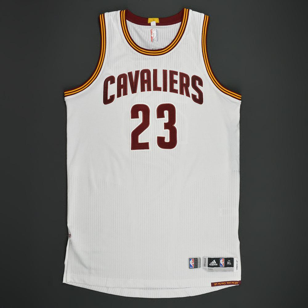 LeBron James - Cleveland Cavaliers - White Playoffs Game-Worn Jersey - 200th Career Playoff Game - 2016-17 Season