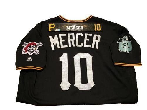 Photo of Jordy Mercer Game-Used Spring Training Jersey and Locker Name Plate