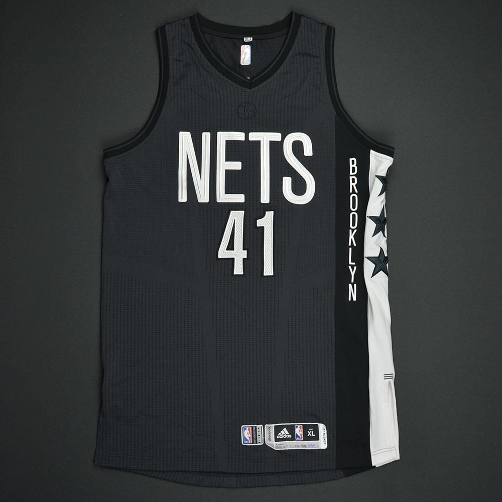 Justin Hamilton - Brooklyn Nets - Game-Worn Black Alternate Jersey - 2016-17 Season