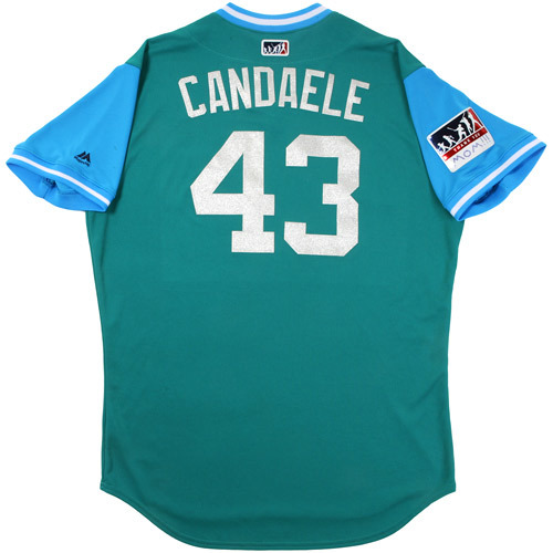 "Photo of Casey ""Candaele"" Candaele Seattle Mariners Game-Used Players Weekend Jersey"