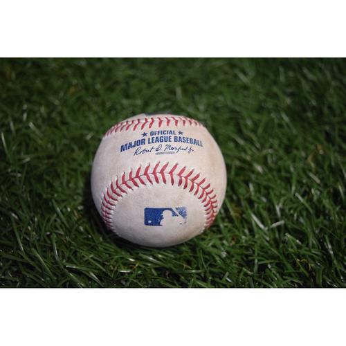 Photo of Game-Used Baseball: Brad Miller single off Sonny Gray - 9/12/17 at Citi Field v NYY