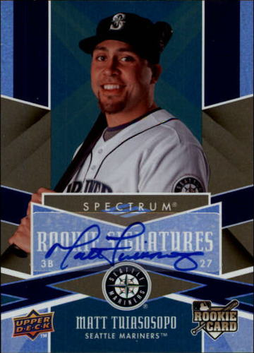 Photo of 2009 Upper Deck Spectrum #120 Matt Tuiasosopo AU (RC)